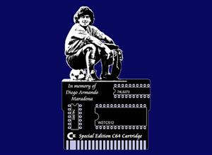 SPECIAL EDITION COMMODORE 64 CARTRIDGE PCB: In memory of Diego Armando Maradona