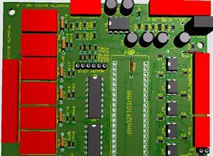 Stm32f103c8t6 I-O PCB and 0 - 10v Output