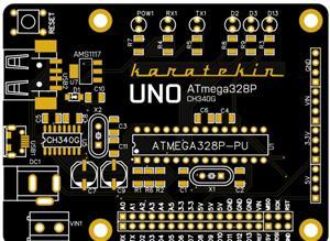 Arduino UNO Microcontroller Card - (MCU: ATmega328P-PU) - (USB-TTL CH340G)