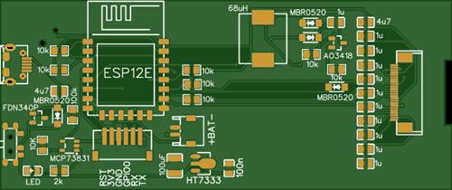ESP8266 E-PAPER BOARD