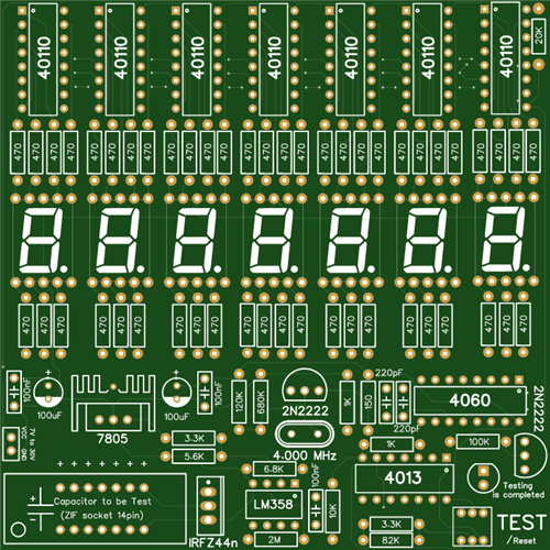 Capacitor Tester / Meter without MCU