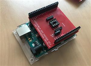 Arduino Uno Programming Hat for ATTiny85 Microcontroller