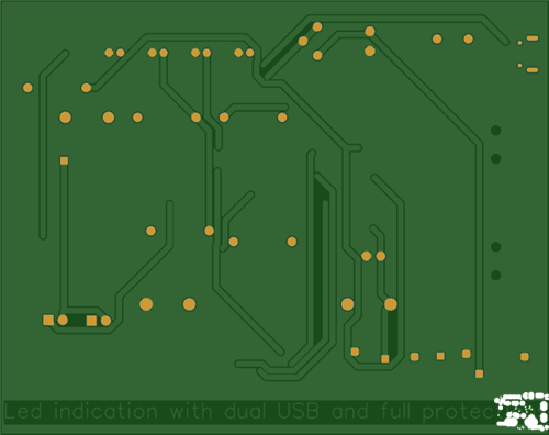 Dual USB power bank circuit