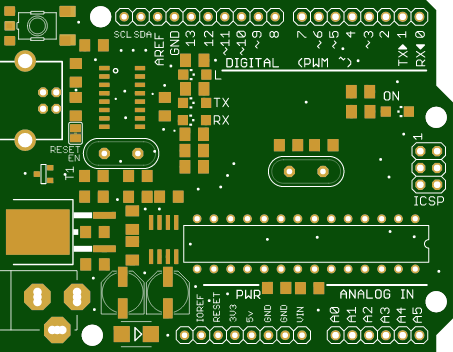 Arduino UNO clone with CH340