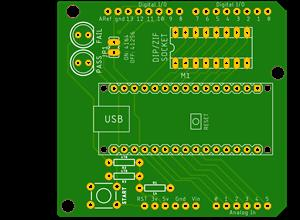 DRAM Test Shield for Arduino Uno and Nano