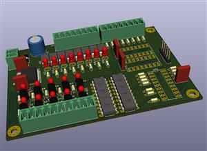 PIC Based Control Board - 10 Input / 8 + 8 OC Output