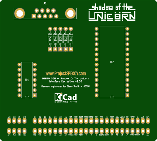 Retro computing - ZX Spectrum Shadow of the Unicorn ROM interface