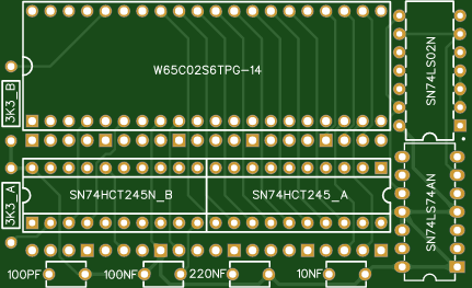 6502 (W65C02S) to Atari SALLY adapter Board