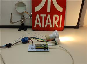 Motion detector with light, esp32 and telegram notifications