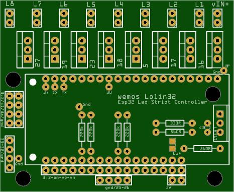ESP32 8 Channel Led Strip Controller