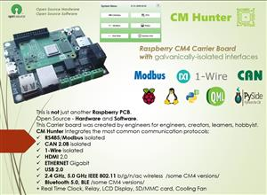 CM Hunter - Raspberry CM4 Carrier Board with ISO Interfaces