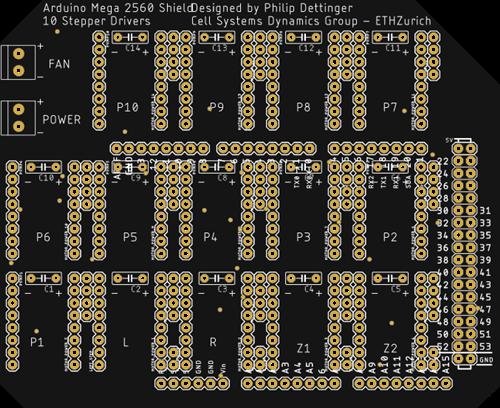 14 Stepper Arduino Mega Shield