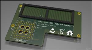 Amiga 600 68000 PLCC DIP Adapter V2