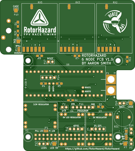 RotorHazard 6 Node STM32 Lap Timer