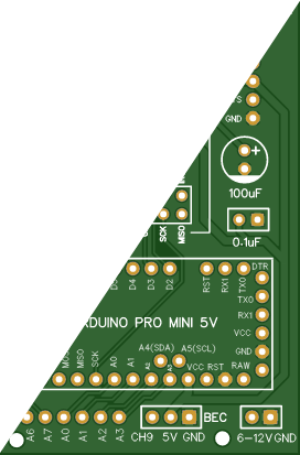 Arduino Based RC Receiver PCB For Pro Mini