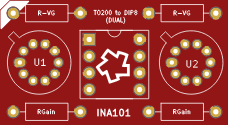 ina101 adapter (Single to Dual)
