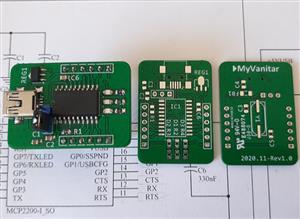 Cheap USB to UART Converter using Microchip MCP2200