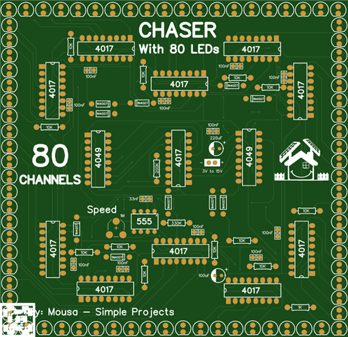 LED Chaser with 80 channels