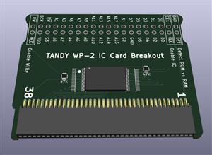TANDY WP-2 IC Card Breakout