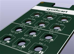 Atari 2600 Keyboard (synthcart faceplate)
