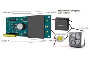 fast automatic emergency light or fan switch on