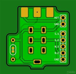 Guitar Tone PushPull coil cut pcb