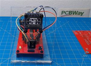 Arduino based weather station with the atmega328p