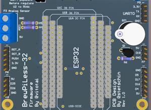 BrewPiLess ESP32 Rev 00