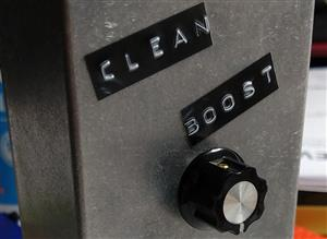Simple single knob clean boost pedal circuit