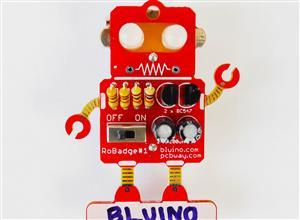 LED Blinking Robot Badge - Soldering Kit