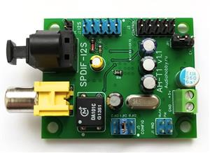 SPDIF coaxial fiber AK4113 receiver board, I2S output