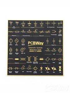 PCBWay PCB Coaster Schematic Symbol Reference Guide board