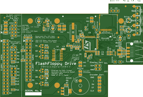 Flash Floppy Drive (Enhanced Gotek) for Commodore Amiga (compatible with Atari, Amstrad, Yamaha, etc.) NEW design