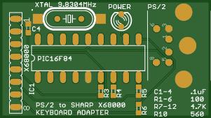 Sharp X68000 PS/2 Keyboard converter
