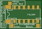 ATX PSU to Sharp X68000 Power Supply Unit Power-ON adapter