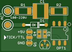 Tick signal generator for Commodore Amiga 2000, 3000, 4000 Power Supply Unit