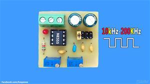 NE555 Square Wave Signal Generator 10Khz-200khz | pcb