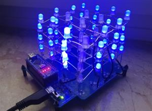 LED Cube with Arduino / 4x4x4 / Weekend-Projects