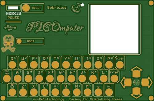 PICOmputer - front panel