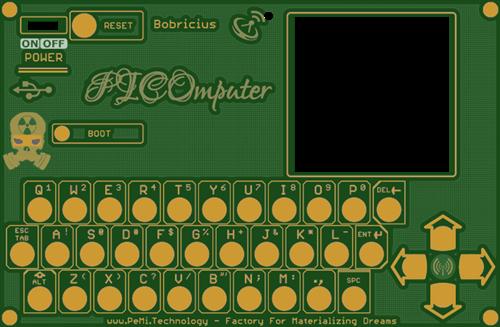 PICOmputer - front panel