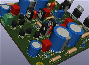 Class A Amplifier AH-AMP1 [version with large capacitors]