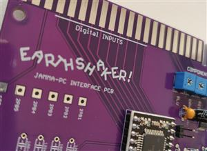 EARTHSHAKER - PC to Jamma Interface Board