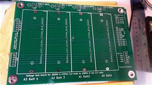 Arduino 4 bay Battery voltage check.
