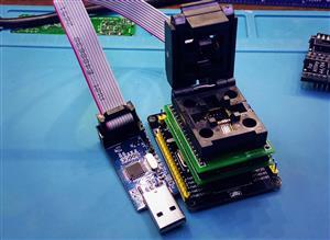 AVR ISP programmer adapter for TQFP socket