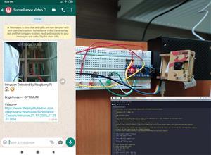 WhatsApp Surveillance Video Camera with IR Proximity Sensor