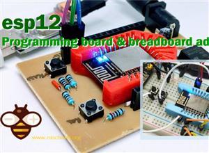 esp-12 esp-07 (esp8266) programming board