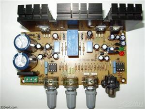 Stereo amplifier LM1875/TDA2030 | Усилитель + Выпрямитель + Защита Ас + Темброблок