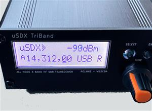 uSDX TriBand – 3 band SDR All Mode QRP Transceiver #5 FRONT face plate