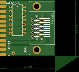 Commodore Amiga DB23 External Video Buffer