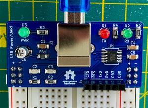 USB Power/UART breadboard breakout